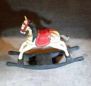 Rocking Horse Toy Vintage Antique 8 X 11 Wooden All Wood Ms32