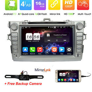 Fit Toyota Corolla 2007 2008 2009 2010 2011 Car Radio Dvd Gps Stereo Player Map
