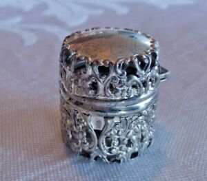 Antique Sterling Silver Sewing Thread Holder Box