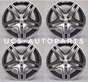 New 22 Ml63 Amg Style Gunmetal Wheels Rims Mercedes Benz Gl Gl450 Gl550 Gl350 S
