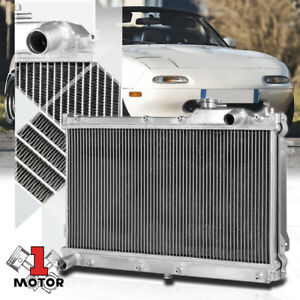Aluminum 2 Row Performance Radiator For 90 97 Mazda Miata Mx5 B6ze Manual Mt