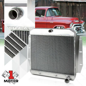 Aluminum 3 Row Core Performance Radiator For 55 59 Chevy Gmc Pickup Truck I6 V8