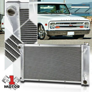 Aluminum 3 Row Performance Radiator For 69 72 Chevy gmc C k Pickup Truck 6cyl