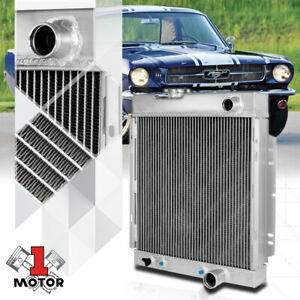 Aluminum 3 Row Core Performance Cooling Radiator For 63 66 Falcon Mustang Comet