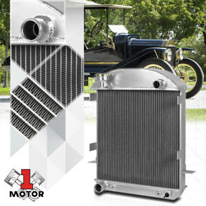 Aluminum 2 Row Performance Cooling Radiator For 24 27 Ford Engine Model T Bucket