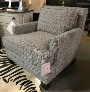 New Showroom Sample Drexel Black White Breland Chair Msrp 2 629 Gorgeous