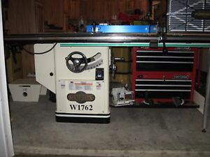 Shop Fox W1762 12 Inch Table Saw W Riving Knife Long Rails Extension Table