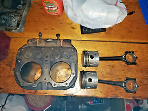Wisconsin Vh4d Engine Cylinder Block Jug Pistons Aa98 Rods Complete