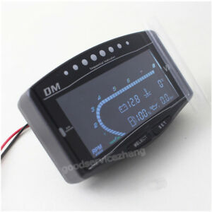 6 Function 12v 24v Truck Car Lcd Digital Oil Pressure Gauge Volt Voltmeter