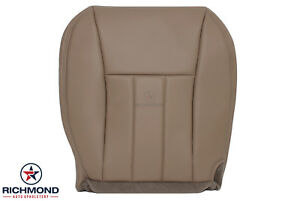 1999 Jeep Cherokee Limited Driver Side Bottom Replacement Leather Seat Cover Tan