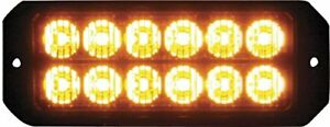 Buyers Products 8891700 Amber Surface Mount 12 led Strobe Light