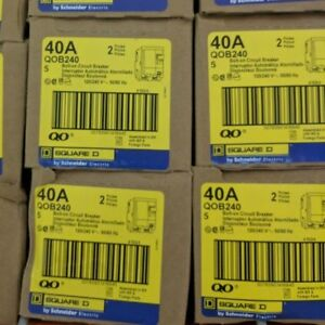 Square D Qob240 Bolt on Circuit Breaker box Of 5 Brand New With Warranty