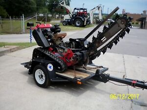 Barreto 2014 E2024tk Track Trencher Low Hrs 510 3 W trailer 48 Bar Recond 10 17
