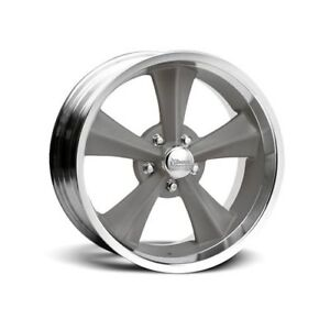 Rocket Racing Booster Gray Center Machined Outer Wheel 18 X8 5x4 5 Bc Set Of 4