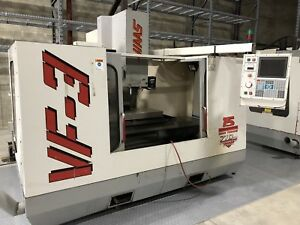 Haas Vf3 1997 Cnc Vertical Mill Machining Center 15hp Lcd Monitor 4th Axis Ready