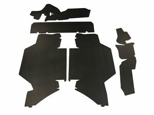 1964 Cadillac Deville 4 Dr Sedan Trunk Side Panel Kit Double Black 5 Pcs