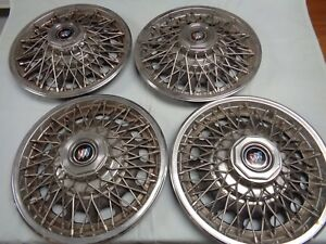 82 85 Buick Wire Hubcaps Wheel Covers Gm 25511220 Used Set 4