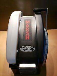 Marsh Td2100 Model Tdh110 Paper Gum Tape Dispenser