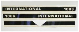 Hood Decal Set For Case Ih International Tractor 1086