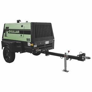 Sullair 185t4fdpql f185 Portable 49hp Diesel Air Compressor 185cfm 100psi