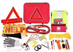 Thrive Roadside Assistance Auto Emergency Kit First Aid Case Contains
