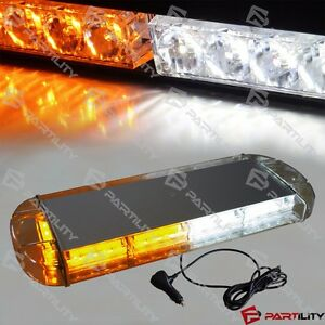 21 Inch White Amber Yellow Roof Warn Hazard Security Strobe Led Light Bar