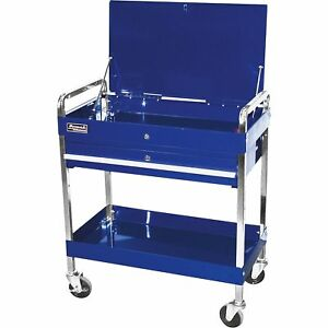 Homak Industrial Service Cart Blue Model Bl05500190