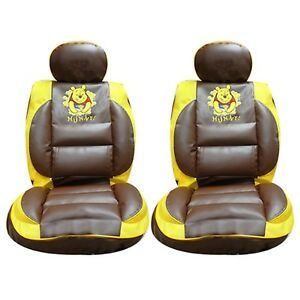 Winnie The Pooh Car Seat Cover Front X 2 Premium Limited Edition Faux Leather