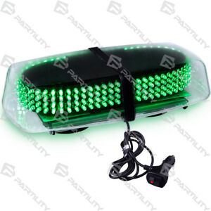 240 Led Green Light Emergency Warning Strobe Flash Traffic Magnetic Roof Advisor