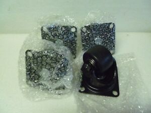 Lot Of 4 Misumi Casters Heavy Load Swivel Type Cshn65 n