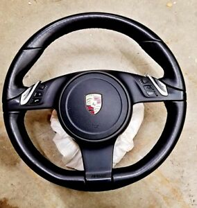 2011 Porsche Cayenne Steering Wheel 7pp419091ae Heated Airbag