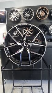 19 Black Machine Y Amg Style Rims Wheels Fits Mercedes Staggered S Class W221