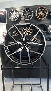 19 Black Y Amg Style Rims Wheels Fits Mercedes Benz S430 S550 S500 Staggered
