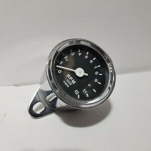 Vdo Tachometer 0 12000 Rpm Chrome Used 00 109 08 5 74 W 1 0 Sports Car