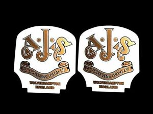 Ajs Toolbox Oil Tank Sticker Set Of 2 Pcs For Ajs Motorcycles
