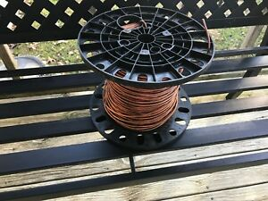 Spool Of Bare Solid 6 Awg Copper Wire 500