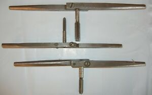 Antique Henry L Hanson Tap And Die Handles Nice Shape Used 3 In Lot