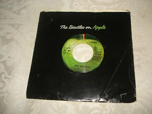 The Beatles Apple 45 Record Let It Be 1970 First Press Apple Sleeve Vg