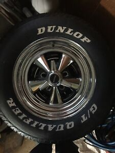 Set Of 4 Dunlop G T Qualifier 215 70r15 Tires And Cragar Wheels Low Miles
