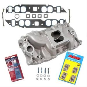 Bbc 396 454 Oval Port Summit Stage 2 Intake Manifold W gaskets Bolts Pro pack
