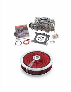 Edelbrock 1406a 600cfm Vacuum Secondary Carburetor With Air Cleaner