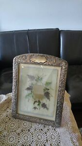 Beautiful Huge 15 X 11 1 2 Antique Ornate Silver Plated Picture Photo Frame