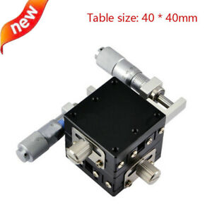Xy Axis Manual Displacement Platform Micrometer Sliding Stage Load 19 6n 40x40mm