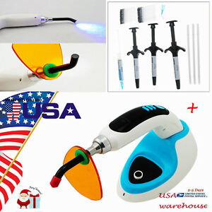 Dental Composite Resin Light Cure With 5w Wireless Led Curing Light Lamp 2000mw