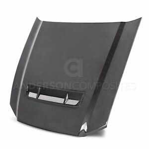 Anderson Composites Carbon Fiber Hood For 2010 2014 Ford Mustang Shelby Gt500