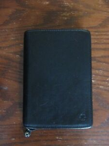 Franklin Covey Nappa Leather Compact Planner Black Zippered 6 5 X 8 Extras