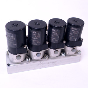 Lot Of 4 Humphrey Mini myte M31e1 Solenoid Valves 0 100 P s i g W Mm 4 Manifold