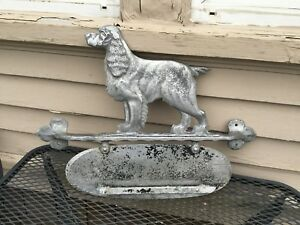 Vintage Architectural Salvage Irish Setter House Marker