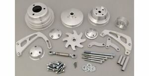 March Performance Pulley Kit Serpentine Aluminum Clear Chevy Big Block Kit 23063