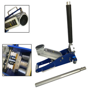 Blue Aluminum 1 5t Air Hydraulic Floor Jack Easy Operate Shop Garage